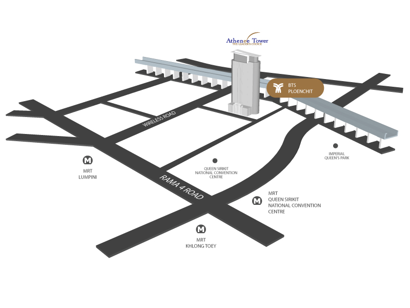 athenee-tower-map