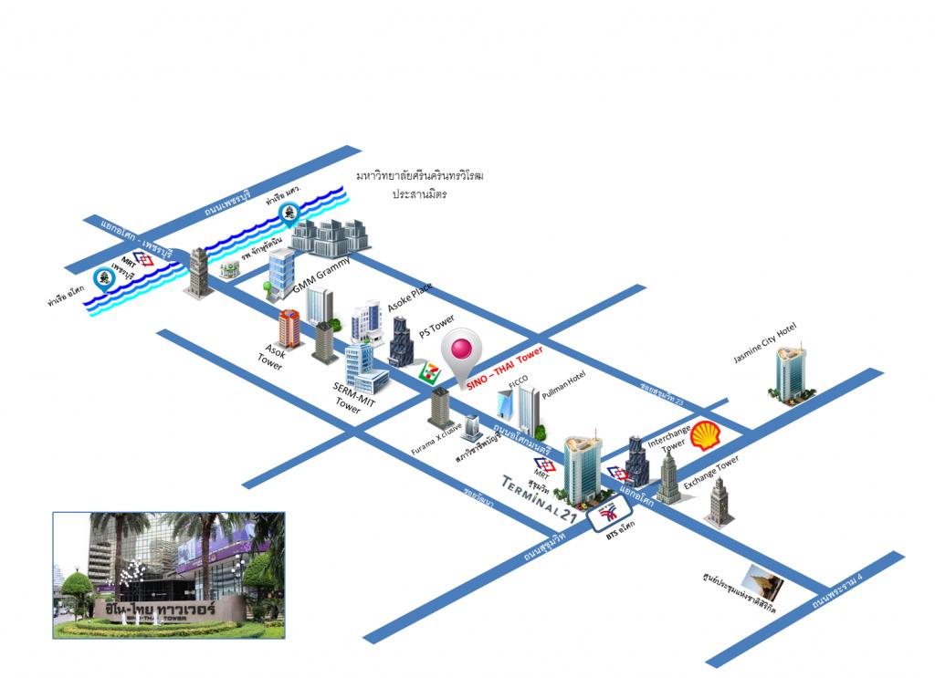 sino thai map